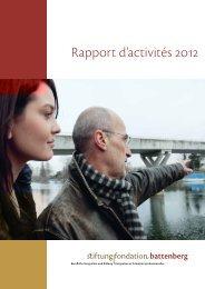Rapport d'activités 2012 - Fondation Battenberg
