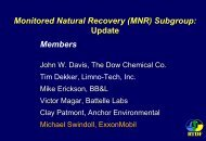 Monitored Natural Recovery (MNR) - Remediation Technologies ...