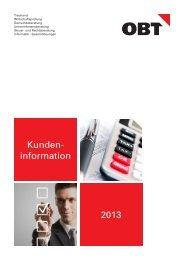 Kunden- information 2013 - obt