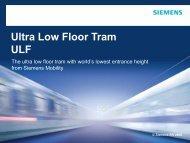 Ultra Low Floor Tram ULF - Club Feroviar Conferences