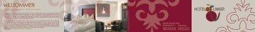 finden Sie unsere Broschüre als PDF - Hotel - Pension Linner