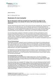 Masterplan für das Inselspital - Wirtschaftsraum Bern