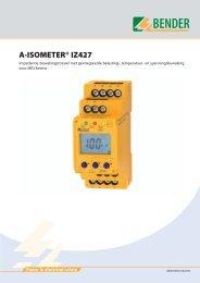 A-ISOMETER® IZ427 nederlands - (977.19 KB ) - Bender Benelux BV