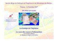 La Géologie de l'Ingénieur Les nouvelles sources d ... - sbgimr