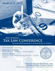 Tax Law Conference 36th Annual - Federal Bar Association