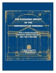 the economic impact of the university of virginia - Weldon Cooper ...