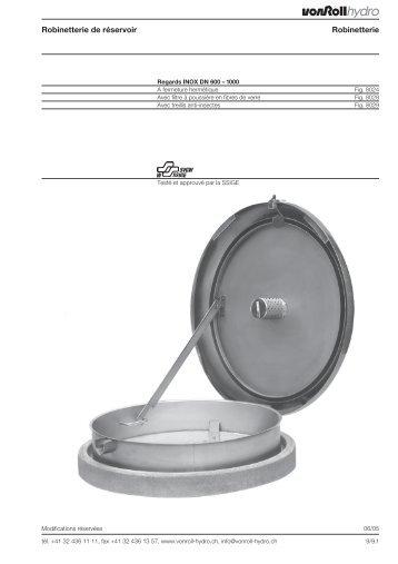 Robinetterie de réservoir Robinetterie - vonRoll hydro