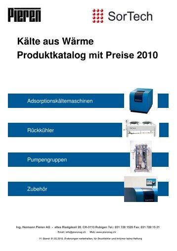 Preisliste für install. Firmen - Ing. Hermann Pieren AG