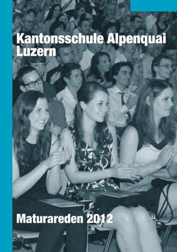 Maturareden 2012 - Luzern - Kanton Luzern
