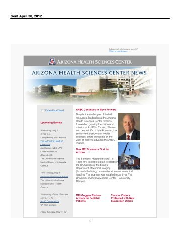 Microsoft Office Outlook - Memo Style - AHSC Office of Public Affairs