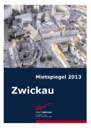MIETSPIEGEL 2013 - Stadt Zwickau
