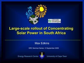 CSP rollout - erc - University of Cape Town