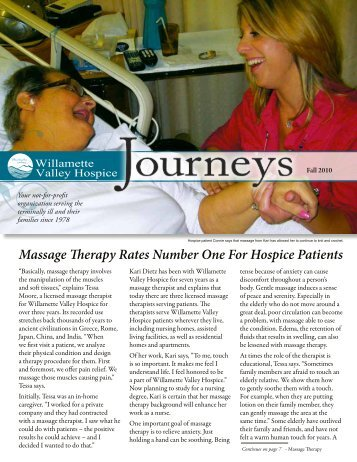 Massage Therapy Rates Number One For Hospice Patients