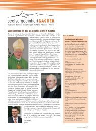 Willkommen in der Seelsorgeeinheit Gaster - Pfarrei Kaltbrunn