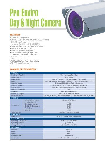 Pro Enviro Day&Night; Camera - Zone Technology