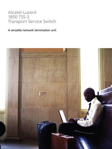 Alcatel-Lucent 1850 TSS-3 Transport Service ... - telecomnetworks
