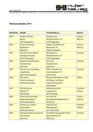 Referenzliste 2011 - NUFER Bau AG