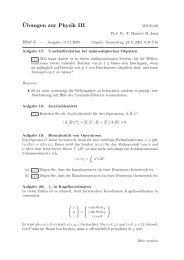 ¨Ubungen zur Physik III - Theoretische Physik 1
