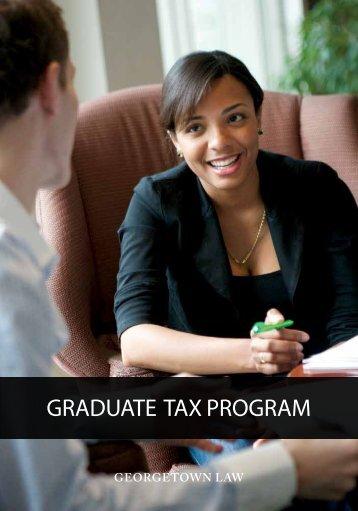 Georgetown's Graduate Tax Programoffers - Georgetown Law ...
