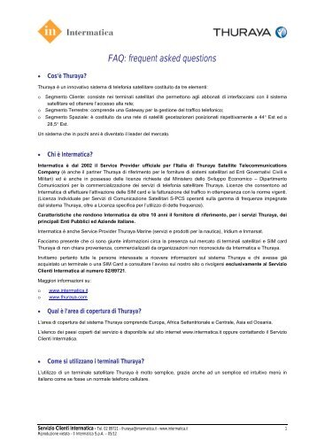 FAQ Thuraya - Intermatica