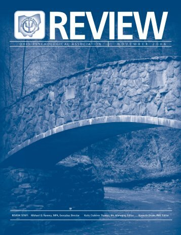 The OP Review November 2006 - Ohio Psychological Association