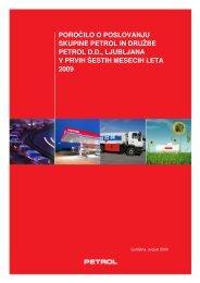 Poročilo o poslovanju skupine Petrol in družbe Petrol d.d., Ljubljana