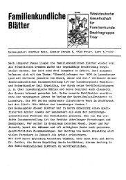Familienkundliche Blätter - Trier