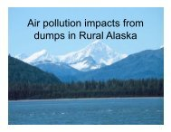 Air pollution impacts from dumps in Rural Alaska - Zender ...