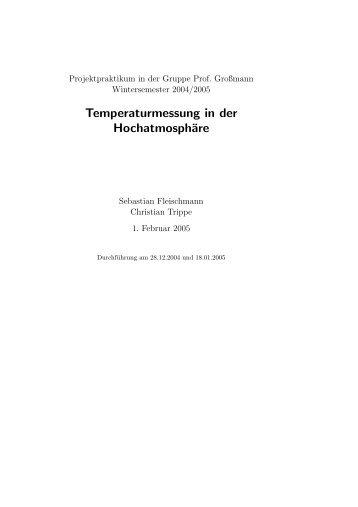 Temperaturmessung in der Hochatmosphäre - fleischmann-netz.de