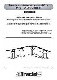 User instructions - Tractel