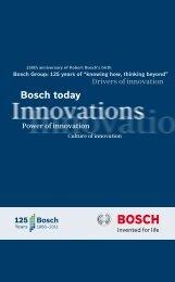 """Bosch today"" brochure (PDF) - Bosch-Career"