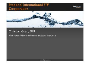 Practical International ETV Cooperation - Advanceetv