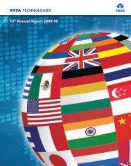 15th Annual Report 2008-09 - Tata Technologies