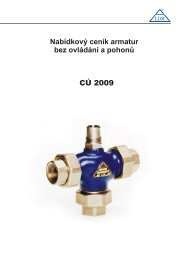 LDM Ceník armatur bez ovládání a pohonů 2009 - Marcomplet