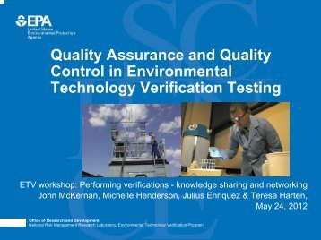 Quality Assurance and Quality Control in Environmental Technology ...