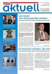 Ausgabe Dezember 2007 - Thurgauer Gewerbeverband TGV