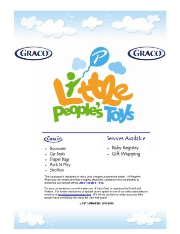 Graco MAR 09 - Little People's Toys