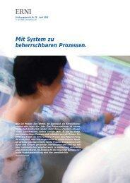 Mit System zu beherrschbaren Prozessen. - erni-consultants.com