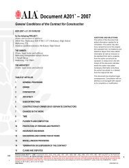 A201-2007 - General Conditions of the Contract for Construction