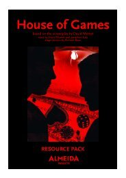 House of Games Resource Pack.qxp - Almeida Theatre