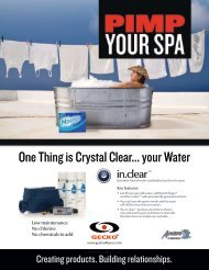 One Thing is Crystal Clear... your Water - Aqua Spa Pak