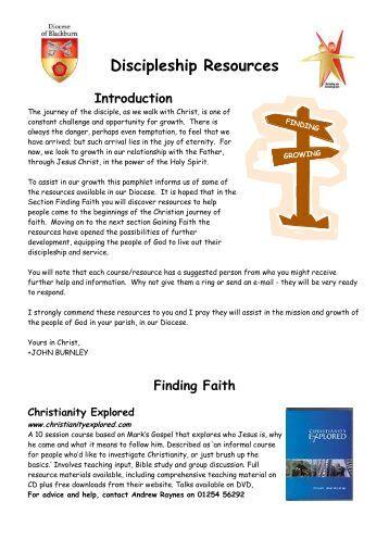 Discipleship Resources Booklet v7 - Diocese of Blackburn