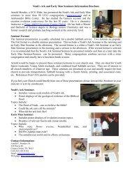 Seminar Brochure. pdf - Noah's Ark & Early Man
