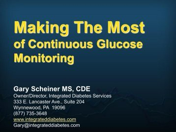 GLUCOSE SENSING - Children with Diabetes