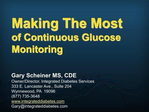 GLUCOSE SENSING - Children with Diabetes