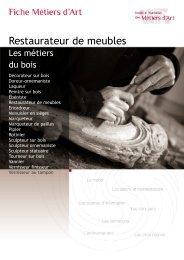 Restaurateur de meubles - Institut National des Métiers d'Art