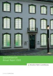 Geschäftsbericht 2003 - Commerzbank International SA