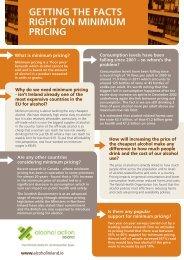 Minimum Pricing Fact Sheet - Alcohol Action Ireland