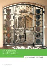 Geschäftsbericht 2002 - Commerzbank International SA