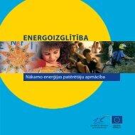 ENERGOIZGLĪTĪBA - Nākamo enerģijas patērētāju apmācība